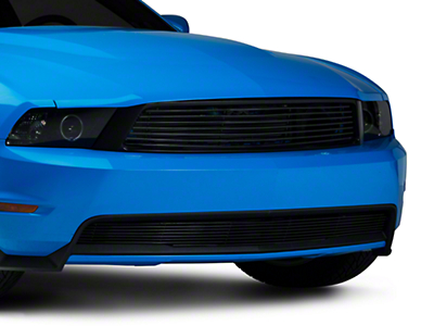Black Retro Mustang Billet Grille Combo Kit (10-12 GT)