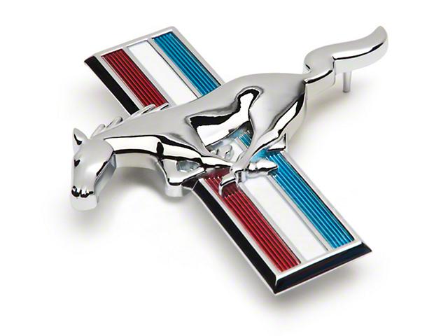 Modern Billet Running Pony Tri-Bar Grille Emblem