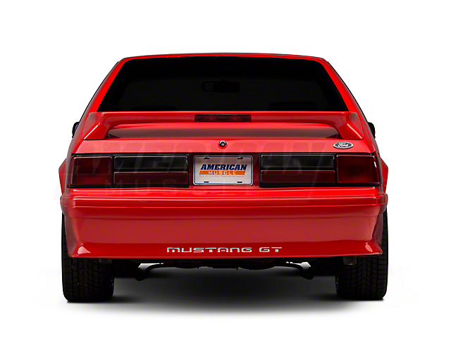 Rear Bumper Cover w/ Mustang Lettering - Unpainted (87-93 GT)