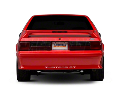 Rear Bumper Cover w/ Mustang Lettering - Unpainted (87-93 GT)