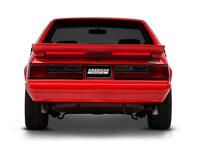 Rear Bumper Cover w/ Mustang Lettering - Unpainted (87-93 LX)