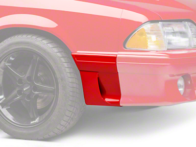 RH Fender Molding w/ Side Scoop - Front (91-93 GT)