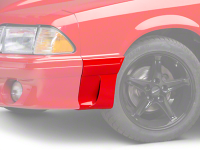 Left Side Fender Molding w/ Side Scoop - Front (91-93 GT)