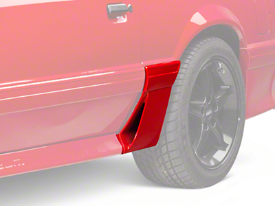 Left Side Quarter Molding w/ Side Scoop - Side (87-93 GT)