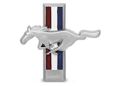 Running Pony Tri-Bar Dash Emblem