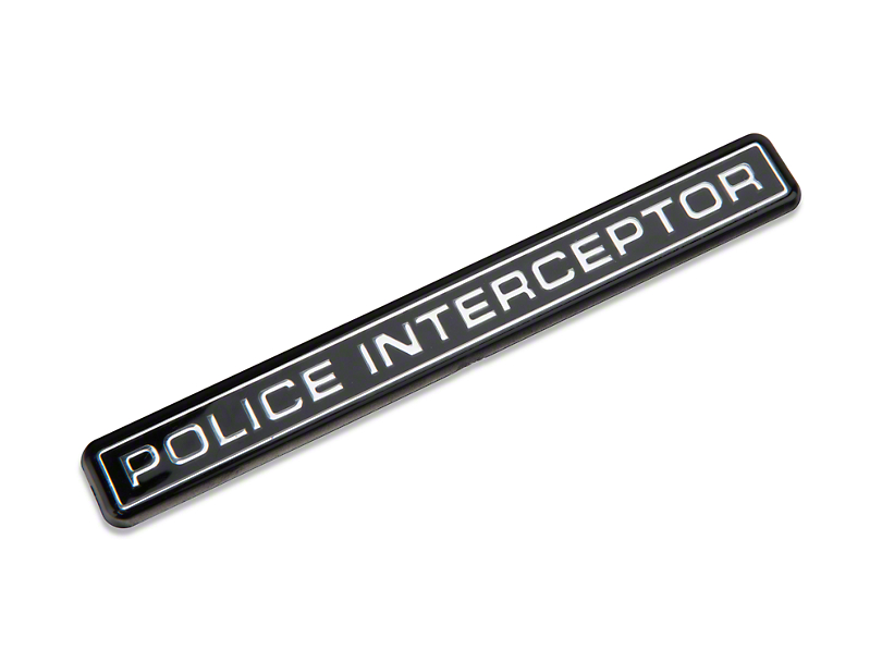 SpeedForm Police Interceptor Emblem
