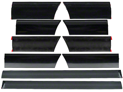 LX Side Body Molding - 10 Piece Kit (91-93 LX)