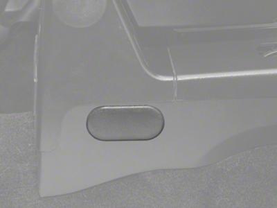 Center Console Oval Access Plug - Gray (87-93 All)