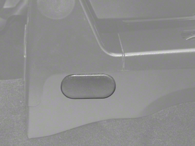 OPR Center Console Oval Access Plug - Gray (87-93 All)
