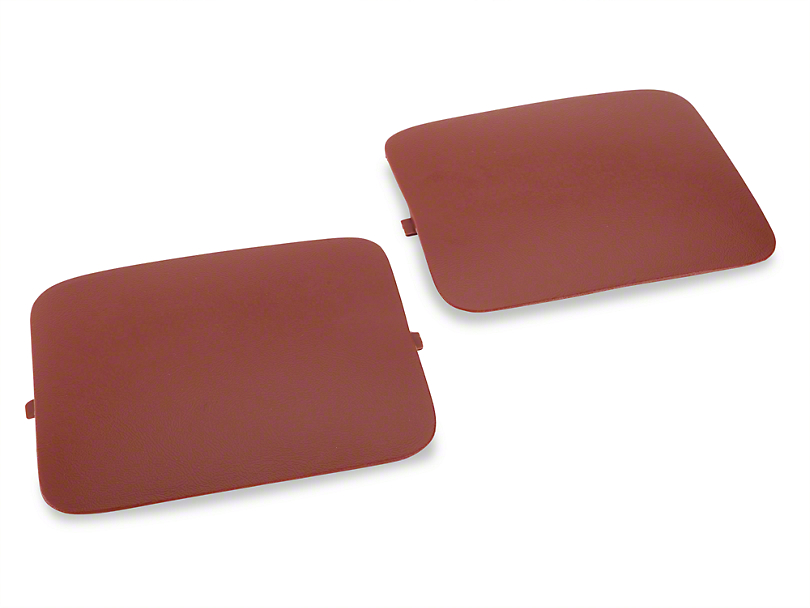 OPR Hatchback Shock Access Covers - Red (87-89 All)