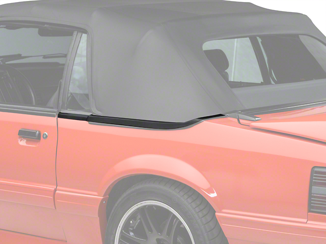 Convertible Top Boot Well Molding - Left Side (87-93 All)