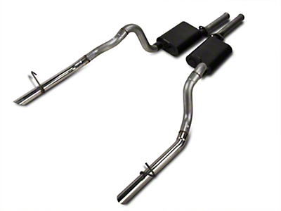 Flowmaster American Thunder Cat-Back Exhaust w/ Polished Tips (87-93 LX; 86 GT)