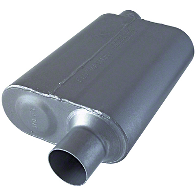 Flowmaster 40 Series Offset Muffler - Stainless Steel 2.5in (79-04 All, Excludes 99-04 Cobra)