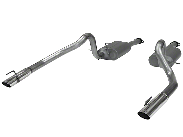 Flowmaster American Thunder Cat-Back Exhaust - Stainless Steel (99-04 GT, Mach 1)
