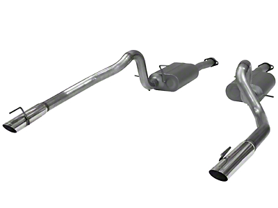 Flowmaster American Thunder Catback Exhaust - Stainless Steel (99-04 GT, Mach 1)