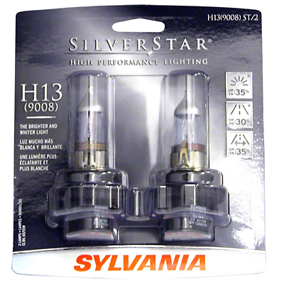 Sylvania Silverstar Light Bulbs - H13