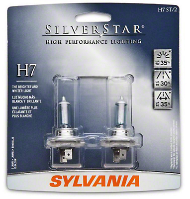 Sylvania Silverstar Light Bulbs - H7