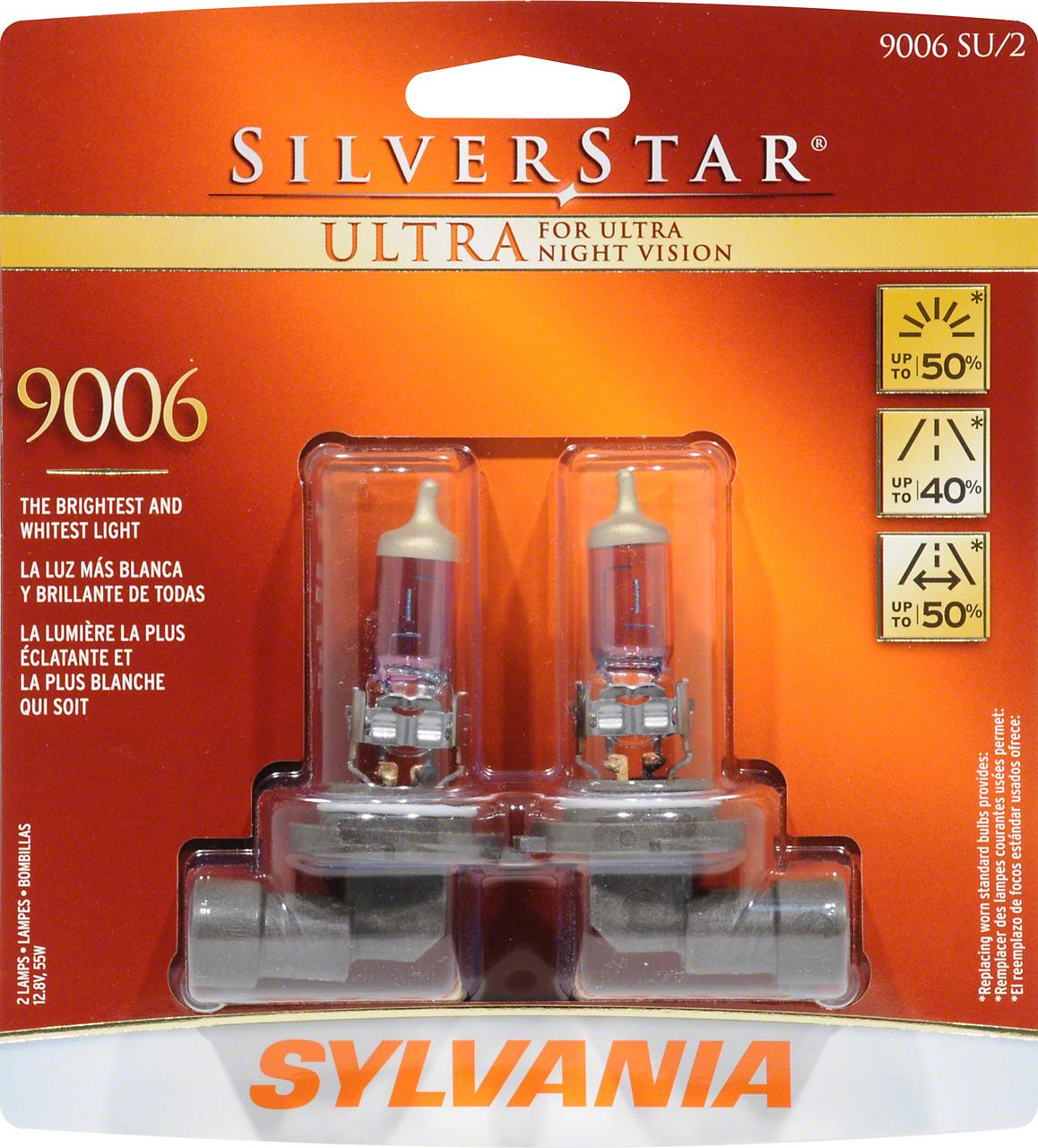 Sylvania Silverstar Ultra Light Bulbs - 9006