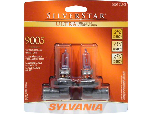 Sylvania Silverstar Ultra Light Bulbs - 9005