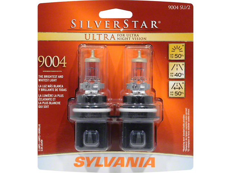 Sylvania Silverstar Ultra Light Bulbs - 9004