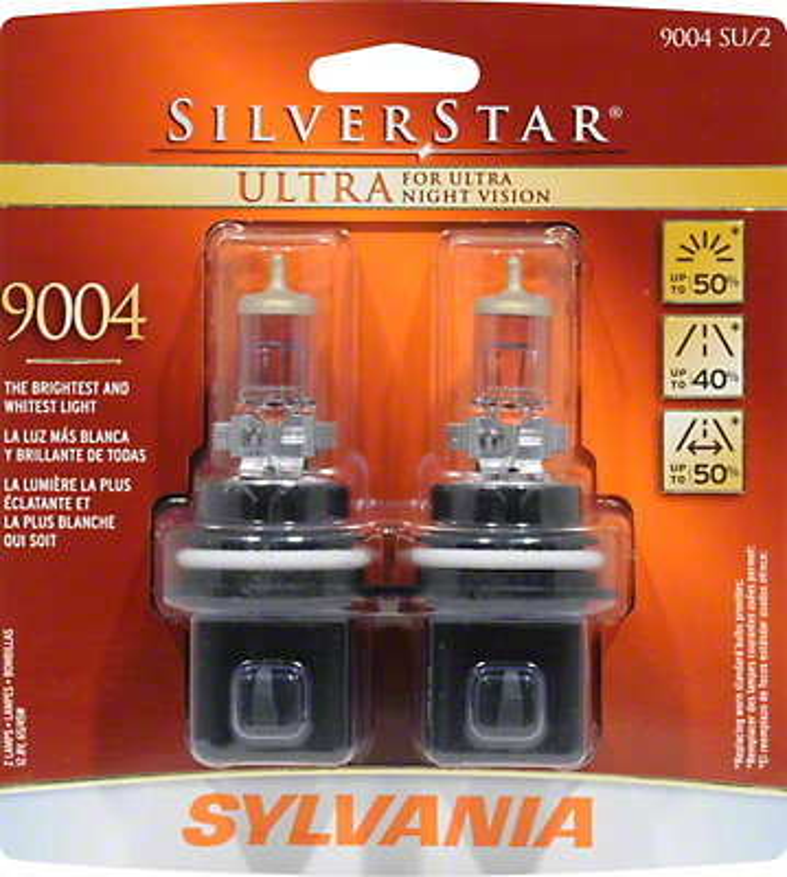 Sylvania Silverstar Ultra Light Bulbs - 9004