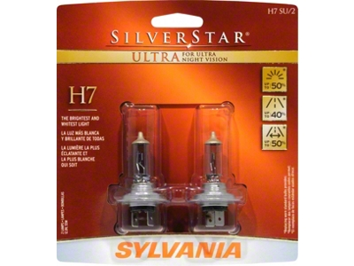 Sylvania Silverstar Ultra Light Bulbs - H7
