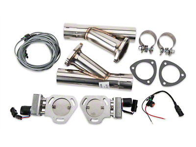 Pypes Electric Exhaust Cutout Kit - 2.5in (79-14 All)