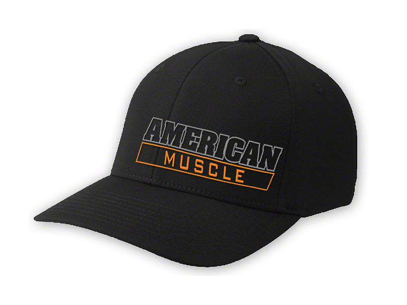 AmericanMuscle Flex-Fit Hat - Black