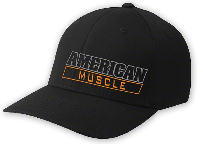 AmericanMuscle Flex-Fit Hat - Black