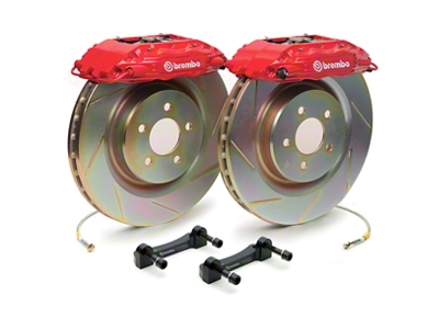 Brembo GT500 Front Big Brake Kit - Slotted Rotors (05-14 All)