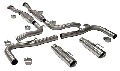 SLP Loudmouth II Catback Exhaust - 3.5in Tips (99-04 Cobra)