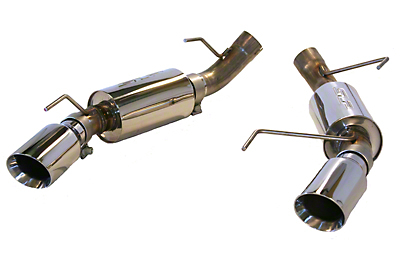 SLP Power-Flo Axle-Back Exhaust - 4in Tips (05-10 GT, GT500)