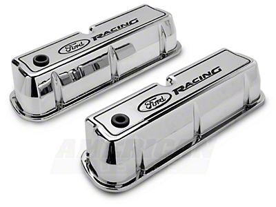 Ford Racing Chrome Valve Covers (289, 302, 351W)