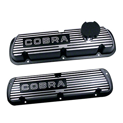 Ford Racing Black Valve Covers w/ Cobra Logo (86-93 5.0L)