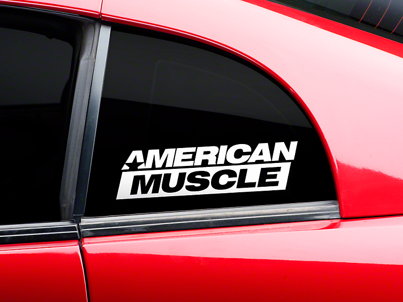 AmericanMuscle Quarter Window Decal - White (79-17 All)