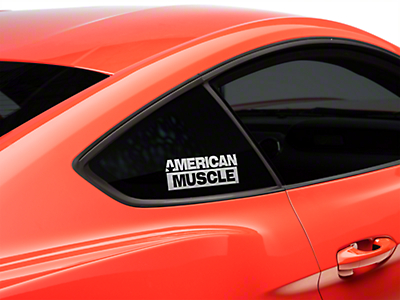 AmericanMuscle Quarter Window Decal - White (15-16 All)