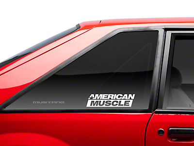 AmericanMuscle Quarter Window Decal - White (79-93 All)