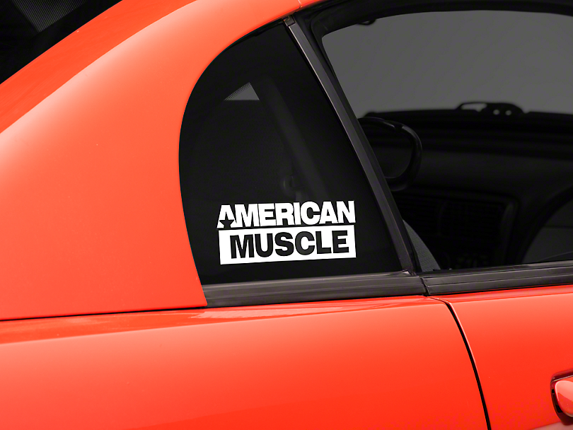 AmericanMuscle Quarter Window Decal - White (94-04 All)
