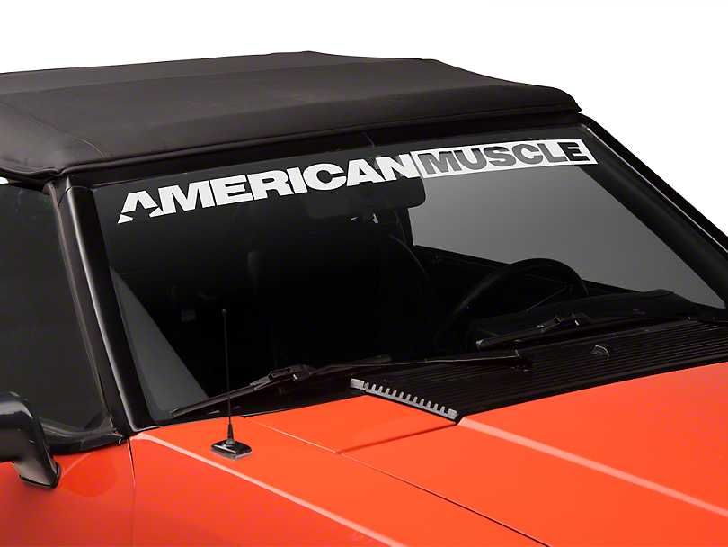 AmericanMuscle Windshield Banner - White (79-93 All)