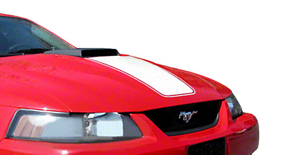 White Mach 1 Hood Decal (99-04 Mach 1)