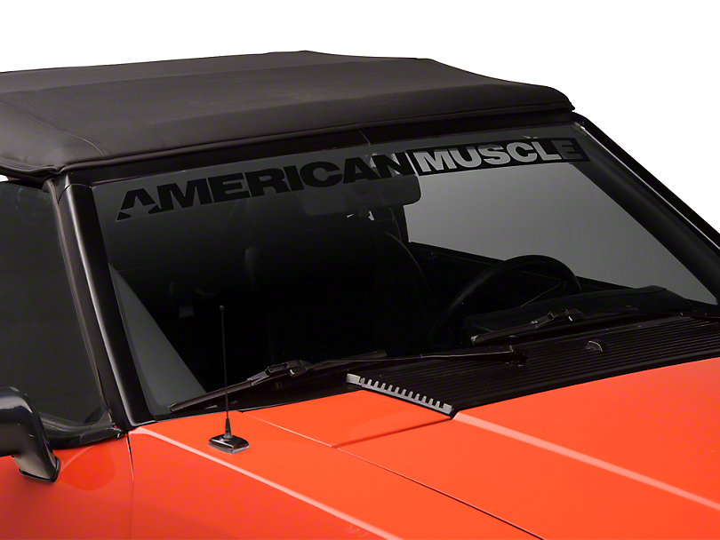AmericanMuscle Windshield Banner - Black (79-93 All)