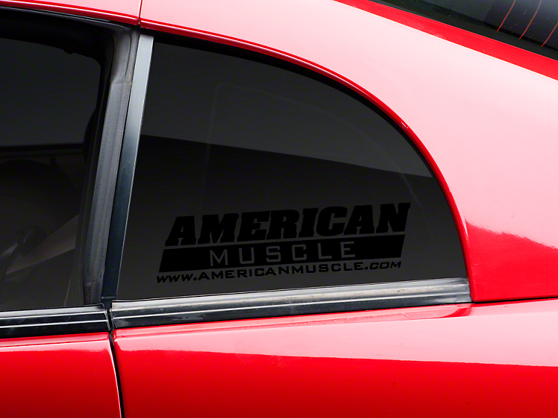 AmericanMuscle Quarter Window Decal - Black (79-14 All)