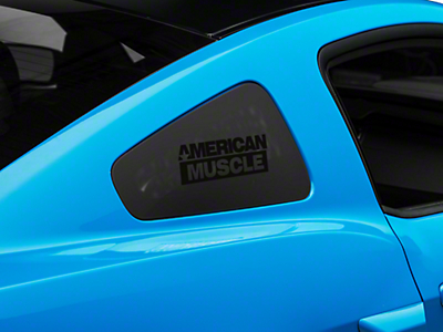 AmericanMuscle Quarter Window Decal - Black (05-14 All)