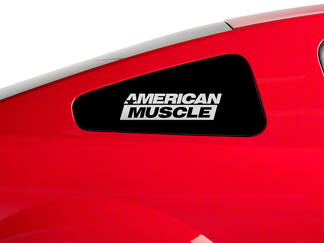 AmericanMuscle Quarter Window Decal - Frosted Glass (79-17 All)