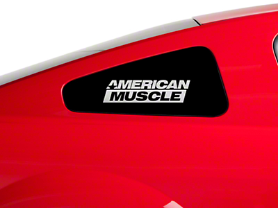 AmericanMuscle Quarter Window Decal - Frosted Glass (79-14 All)
