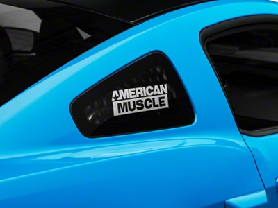 AmericanMuscle Quarter Window Decal - Frosted (05-14 All)