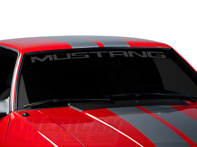 Mustang Windshield Decal - Frosted (79-93 All)