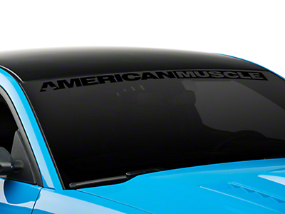 AmericanMuscle Windshield Banner - Black (05-16 All)