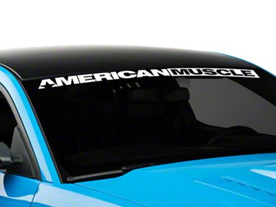 Add AmericanMuscle Windshield Banner - White (05-17 All)