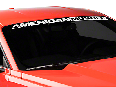 AmericanMuscle Windshield Banner - White (15-17 All)